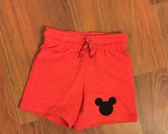 Red mickey shorts | Etsy