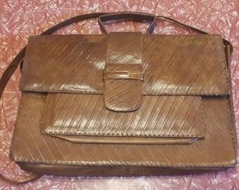 9-5 HIPPY 1970's leather laptop satchel murse portfolio document bag