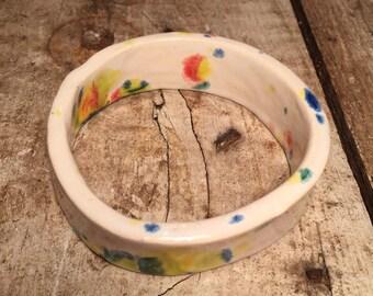 Confetti glaze ceramic bangle