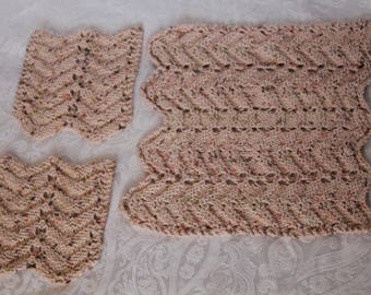 Feather and Fan Dishcloth set