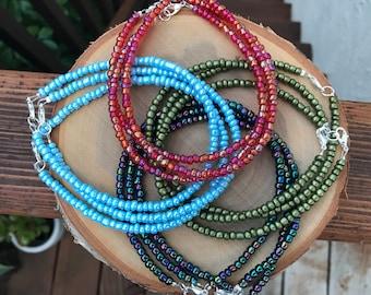 Metallic Beaded Anklet || Ankle Bracelet || Boho Anklet || Multicolor Anklets