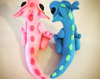 Pair of Polymer Clay Baby Dragons.