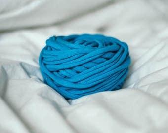 Blue Recycled T-Shirt Yarn