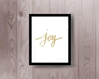 """Gold """"joy"""" Modern wall art"""