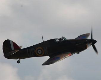 Spitfire In Flight Print