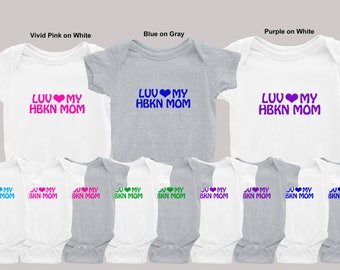 NB to 24-Month Onesie Luv HEART HBKN Mom