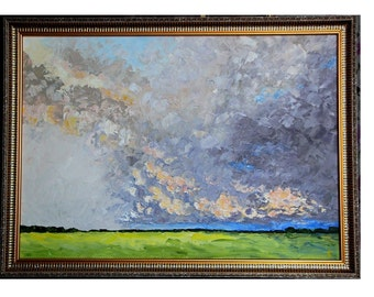 THUNDERCLOUDS original oil canvas painting