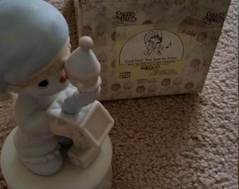 Precious Moments Musical Figurine God Sent You Just in Time