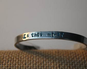 Is this mine? personalized, hand made bracelet