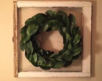 """Magnolia Wreath 18"""""""
