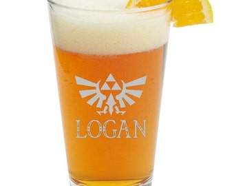 Legend Of Zelda Personalized Glass- Themed Pint Glasses-Beer Glass