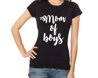 Mom Of Boys, Soft Spun Tee,Mom of Boys Shirt, Raising Boys, Mom of Boys, Mom Life Shirt, Mom Life Tshirt, Mom Shirt, Mom Life