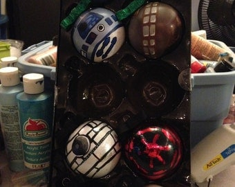 Handpainted Ornaments/ Star Wars/ Set of 8