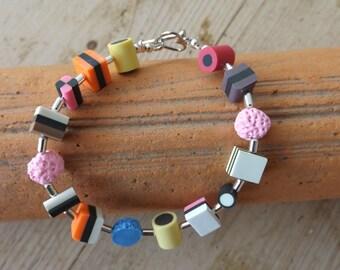 liquorice alsort bracelet