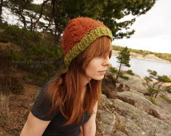 Rust Red Knitted Hat