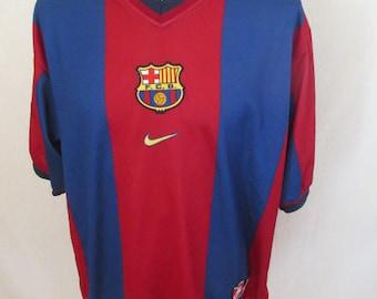 Vintage FC Barcelona 90s Nike size L football Jersey