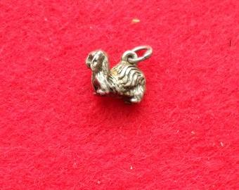 Sterling Silver pekingese Dog Charm