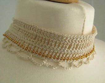 Lace Crochet Choker Necklace
