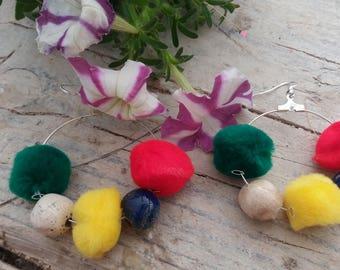 Raku ceramic earrings