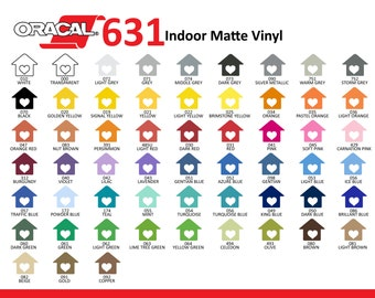 Vinyl Oracal 631 REMOVABLE Vinyl - One of Every Color Including Metallic (57 Count) 12x24