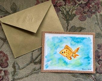 Gold Fish Card // Greeting Card