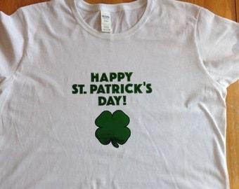 St. Patrick's Day FOIL VINYL T Shirt