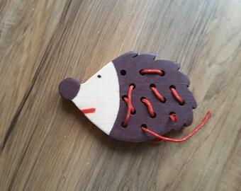 Creative wooden toy Hedgehog