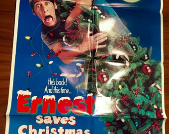 Ernest Saves Christmas 27X41 Original Movie Poster 1980's