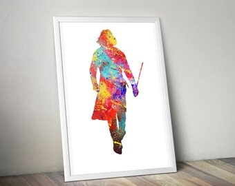 Harry Potter / Harry Potter Print / Professor Snape / Large poster Sizes / Watercolor Print / Watercolor Poster / Always