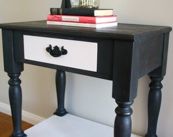 SOLD Monochrome Accent Table