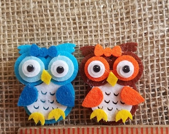Felt Owls with Googly Eyes,Buhos de Fieltro con Ojos Saltones, Owl Baby Shower, Bienvenida de Bebe, Felt Animals, Arts and Crafts,