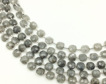 "Grey Quartz Checker Beads 6-7 mm (ONE 8"" Strand)"
