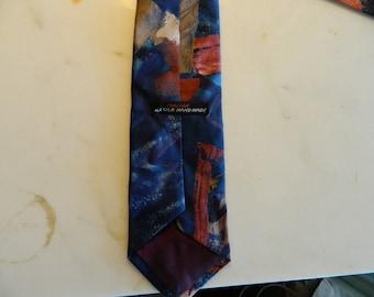 Vintage Italian All Silk Hand Made Tie