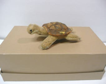 Vintage Small Steiff Turtle Children's Collectable Stuffed Toy Animal