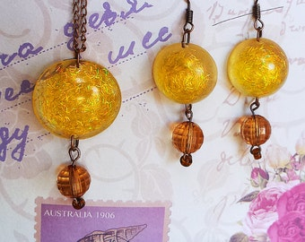 Honey Set - earrings and necklace