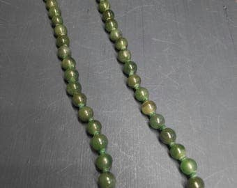Jade Necklace. Vintage. Hand made. Rainbow Jewelry. Brass clousure. Precious stones. Wire wrapped.