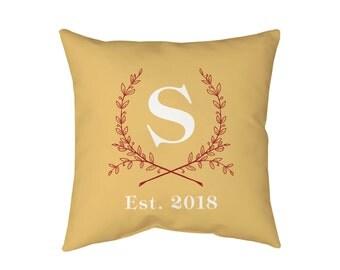 Monogrammed Pillow, Decorative Pillows, Designer Pillow, Throw Pillow, Travel Pillow, Monogram Pillow, Personalized Pillow Custom Pillow