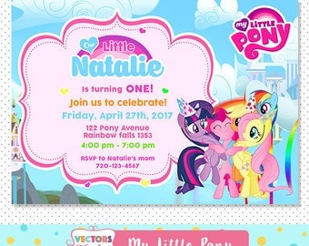 My Little Pony Invitation, My Little Pony Party, My Little Pony Invite, My Little Pony Birthday