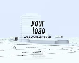 Architectural design of the logo, Video Intro or Outro