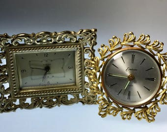 Two Vintage French Made Endura Clocks - Price Reduction