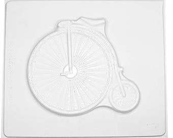 Small Plastic  Mould 2245 - Penny Farthing Cycle 14cm x 12cm