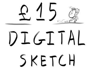 Digital Art Commission - Sketch
