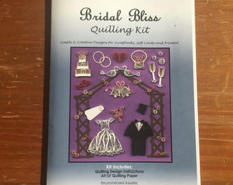 Bridal Bliss Quilling Kit / Quilling Paper / Scrapbooking / Card Making / Arts and Crafts / Quilling / DIY
