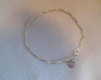 Pale Yellow Ankle Chain