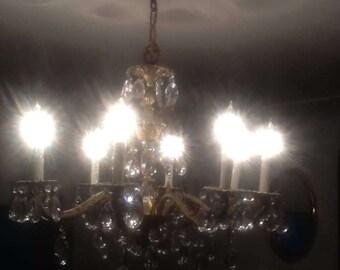 Beautiful vintage Spanish brass chandelier