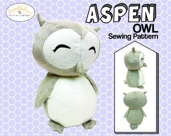 Owl plush PDF sewing pattern