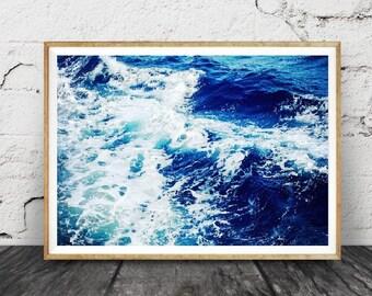 imprimable moderne plage, , vagues, abstrait photographie en couleurs, , Instant Digital Download