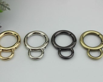 6 pcs 43mm gold silver spring ring clasp round split key ring Heavy gate ring O rings D ring