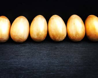 Wooden Eggs - Gold Wash