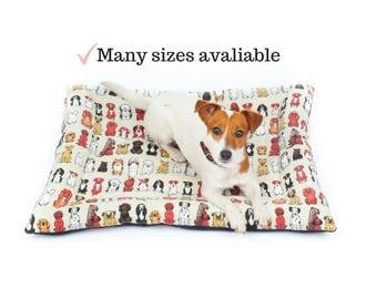 Dog Mat, Dog Print, Crate Pad, Dog Bedding, Kennel Mat, Best Quality